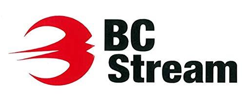 スノーボード ステッカー BC-Stream [BC-1] ビーシーストリーム カッティングステッカー (RED_BLK)