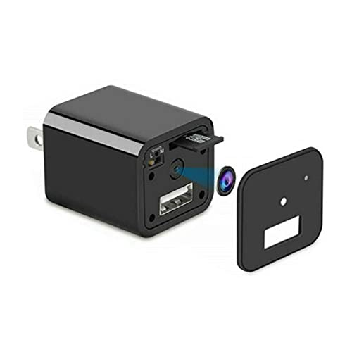 1080P Mini Carregador Spy Câmera HD Filmadora DVR Oculto Gravador 'Plug'Da UE + Cartão TF 32GB