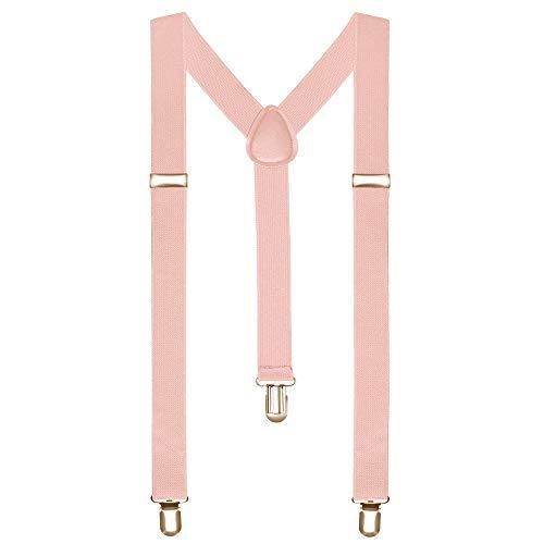 OUTLETISSIMO Herren Hosenträger Pink Rosa onesize