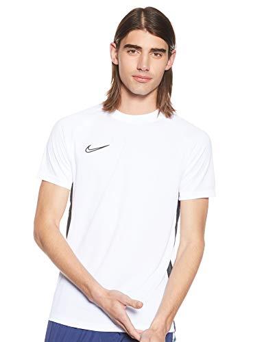 NIKE M NK Dry Acdmy Top SS Camiseta de Manga Corta, Hombre, White/Black/Black, L