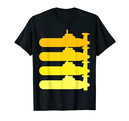 Disfraz de submarino para hombre, color amarillo Camiseta