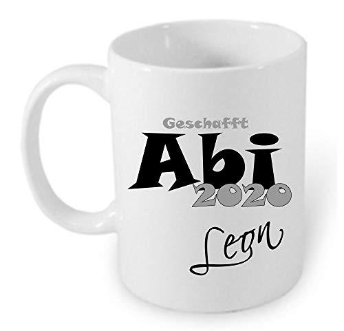 Geschenk zum Abitur ABI 2020 Tasse mit persönlichen Aufdruck Wunsch Namen personalisiertes