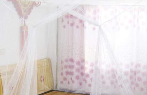 NO LOGO KF-Net Moustiquaire en Forme de boîte pour Voyage, Camping, Maison, lit Simple, Double et Porte Simple, Blanc, Small 150 200 190cm
