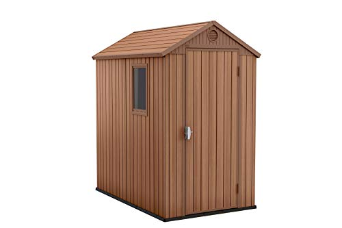 Keter 245957 Darwin Outdoor Garden Shed Brown