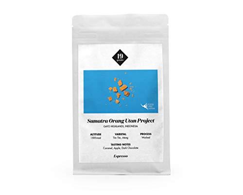 19grams Kaffeerösterei | 1kg | Indonesien Sumatra Orang-Utan Kaffee | Espresso | 1kg x ganze Bohnen | frisch geröstet | 100% Arabica Kaffeebohnen | specialty coffee