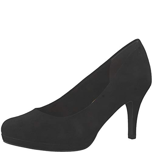 Tamaris Damen Pumps 22464-24, Frauen Plateaupumps, festlich Oktoberfest Dirndl Wiesn Trachten-Schuh weibliche Lady,Black,40 EU / 6.5 UK