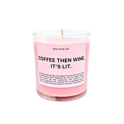 Ryan Porter - Coffee Then Wine Candle - Premium Essential Oils Jar Candle - Specially Formulated Soy Wax Strong Fragranced - Suitable for Home Decoration Scented Candle