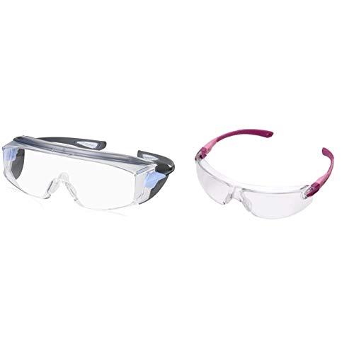 ビジョンベルデ 保護めがね オーバーグラス対応 曇り止め加工 VS302F & ビジョンベルデ 保護めがね 女性向け 小型タイプ VS103F ピンク【セット買い】