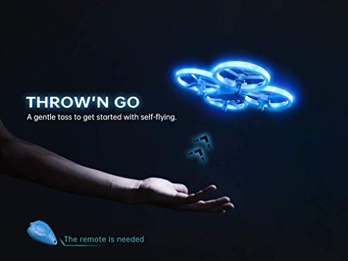 SNAPTAIN SP300 Mini Drone, Hand Operated RC Quadcopter w/Throw'N Go, Multiple Remote Controls,...