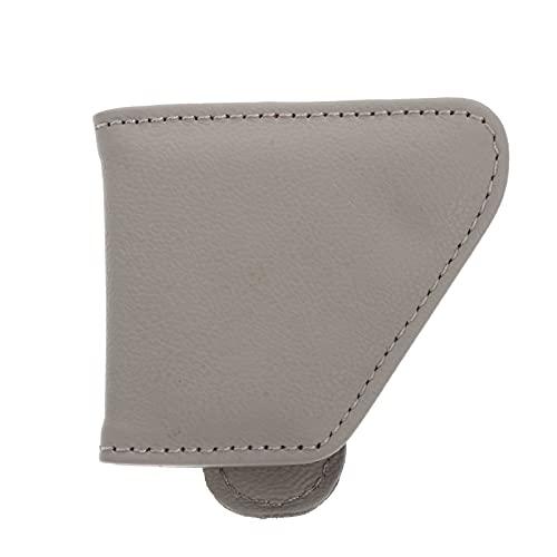 FAVOMOTO Soporte para Gafas de de Cuero para Coche Soporte Universal para Gafas de Clip Y Clip para Tarjetas de Entrada Montura para Gafas de Coche