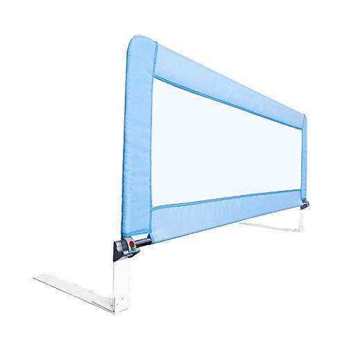 GXYAWPJ Barrière De Lit Portative Safety First, Voie De Levage Verticale, Balustrade pour Lit d'enfant, Bleu (Couleur : Bleu, Taille : 1.8m)
