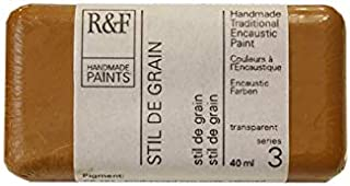 R&F Handmade Paints 103K encaustic Paint Cake, 40ml, Stil de Grain