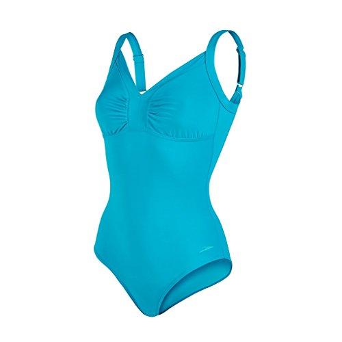 Speedo Damen Badeanzug Badeanzug, Badeanzug Sculpture Watergem Adjustable 1 Piece , Gr. 38 (Herstellergröße: 34), Aquarium