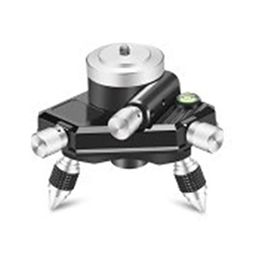 CML Instrumento de Adaptador de Nivel 360 Grados Micro-Ajuste Giratorio for Mover el trípode de Nivel aplicable de Base aplicable (Color : As Shown)