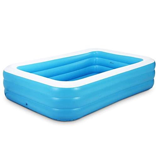Familie aufblasbarer Swimmingpool, 6 Größe Full-Size-Schlauchboot Lounge Pool for Kiddie, Kinder, Erwachsene, Easy Set Pool for Hinterhof, Sommer-Wasser-Party, im Freien (Size : 150 * 110 * 50CM)