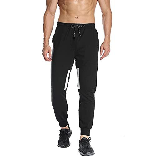 Huntrly Pantalones Casuales para Hombre Primavera y otoño Moda Casual Fitness Pantalones para Correr Transpirables Cordón Cintura elástica Pantalones Deportivos cómodos XL