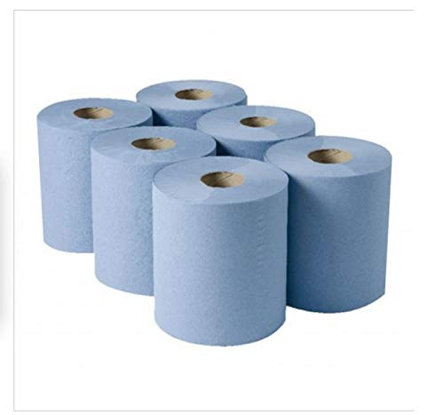 Rollos de papel azul de 2 capas, 75 m x 170 mm, 18 rollos