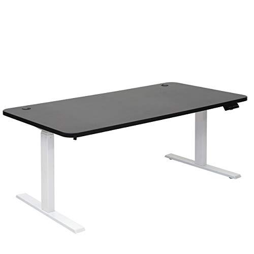 Mendler Schreibtisch HWC-D40, Bürotisch Computertisch, elektrisch höhenverstellbar Memory 160x80cm 53kg ~ schwarz, weiß