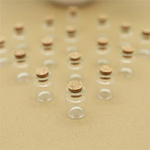 NLLeZ 10pcs 22 * 30 mm 5 ml Botella de Vidrio Mini Vidrio pequeño con Corcho Decorativo Tináneo Lindo de ensayo Bricolaje Frascos Botellas escondidas Tarras
