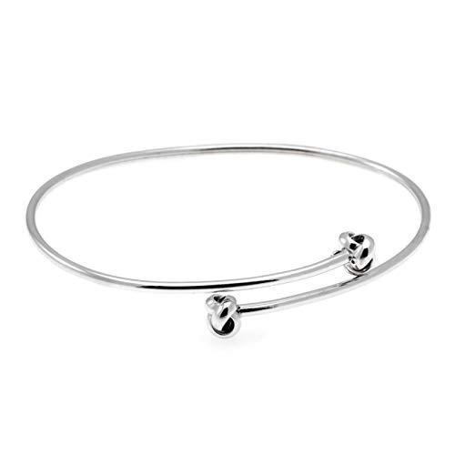 Armreif Knoten offen Silber 925 + GRATIS Etui + Armreif mit Knoten Cuff Armband offen minimal Knotenarmband Sterling Silber 925 Armschmuck FF630 SS925