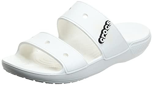 Crocs Classic Sandal, Chanclas Unisex Adulto, White, 36/37 EU