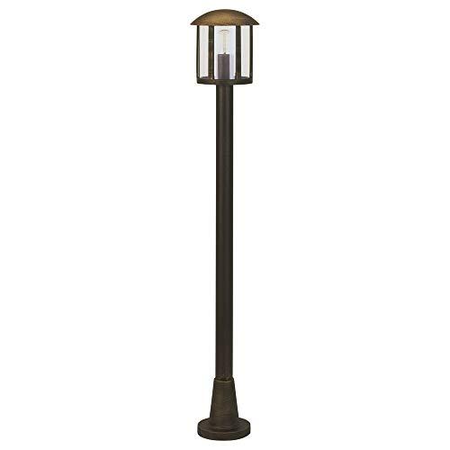 Albert 654139 Socket lampe, E27, 116 cm, aluminium noir