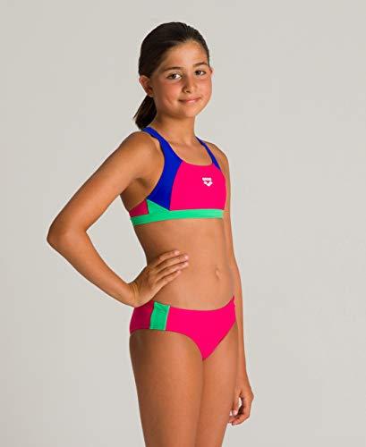 ARENA Mädchen Sport Bikini Ren, Freak Rose-Neon Blue-Golf gree, 164