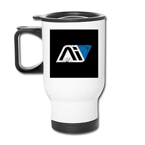 Mass Effect Andromeda Initiative 16oz Vaso de acero inoxidable de doble pared al vacío taza de café con tapa a prueba de salpicaduras para bebidas frías y calientes
