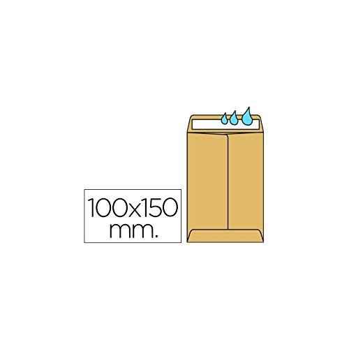 Liderpapel Sobre Bolsa N.1 Kraft Salarios 100X145 Mm Engomado Caja De 1000 Unidades