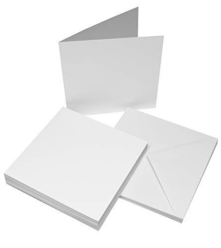 Craft UK - Juego de tarjetas festoneadas y sobres, 25 unidades, 20,3 x 20,3 cm, 1013, cartón, Blanco, 20.8 x 20.8 x 20.8 cm