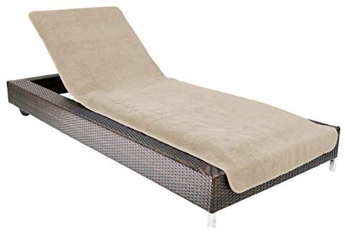 Brandsseller - Funda para tumbona de jardín o playa, tejido de rizo, 100% algodón, 75x200cm aprox.