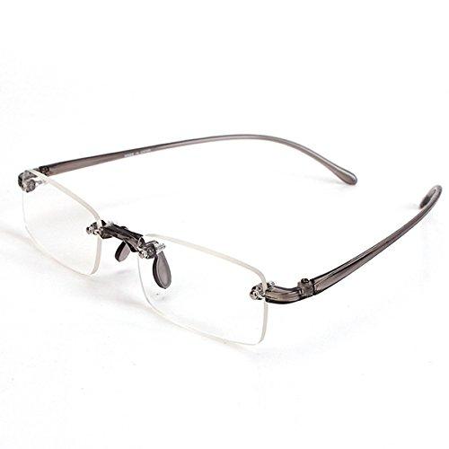 Bluelover grijs randloos licht Presbyopisch leesbril vermoeidheid ontlasten sterkte 1,0 1,5 2,0 2,5 3,0