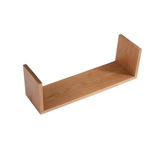 Planken DUO Rekken Woonkamer Set Top Box Massief Hout Wandmontage Opslag Rek TV Kast Bruin, Hout Twee Kleuren Rekken