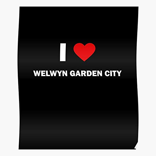 Moebe England Heart Love I Garden United City Kingdom Welwyn Football the best and newest poster for wall art home decor room