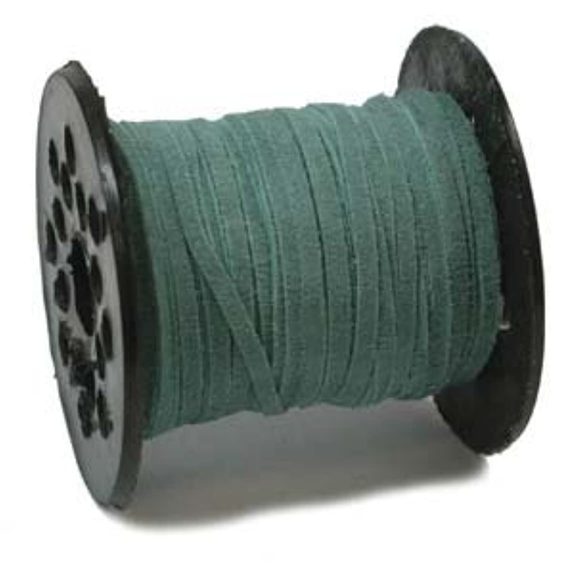 3mm Real Suede Lace Cord String Turquoise 25 Yards