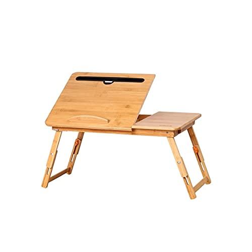 Escritorio de pie Escritorio de computadora Ajustable portátil Mesa Plegable de bambú para computadora portátil Sofá Computadora portátil Mesa de Cama Mesa de Estudio de Estudio para Oficina en casa