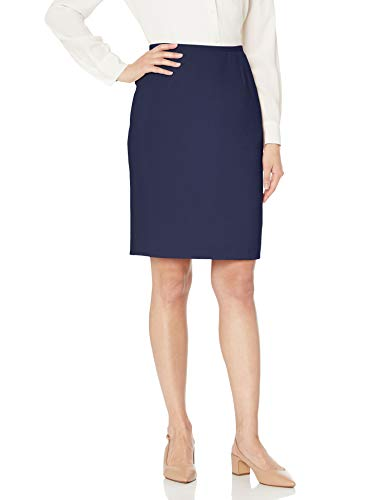 Jones New York Women's Washable Suiting Pencil Skirt, Navy, 12