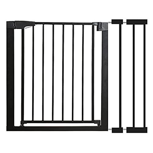 WYYY Barrera De Seguridad De Niños para Puertas Y Pasillos para Puertas Y Escaleras Safety Sin Agujeros Extensible con Rejilla para Escaleras(Size:96-103cm,Color:Black)