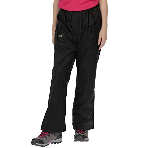 Regatta Pack It - sur-Pantalon imperméable - Enfant Unisexe (15-16 Ans) (Noir)