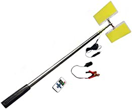 Telescopic Fishing Rod Lamp Light Outdoor Emergency Lights LED Camping Lanturn with IR Remote for Outside Fish Travelling Party