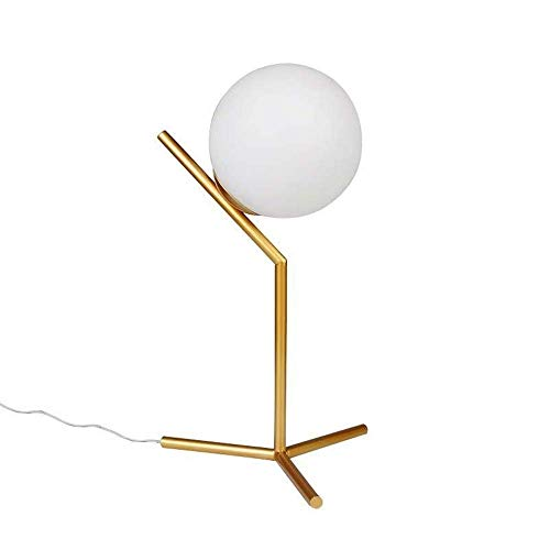 Globe Tischlampe Mid-Century Golden Desk Lampe für Schlafzimmer Wohnzimmer Kinderzimmer Büro
