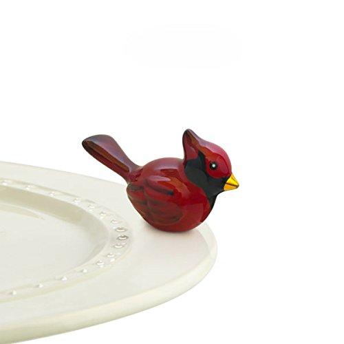 Nora Fleming Hand-Painted Mini: Winter Songbird (Cardinal) A204