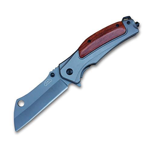 Folding Knife Camping Pocket Knife Hunting - Fast Open Folding Knife Wood Handle - Folding Pocket Knife Assist Open - 7CR13Mov Steel 58HRC - for Men Work Outdoor Adventure Hiking Knife Survival