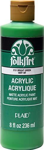 FolkArt Matte Acrylic Craft Paint, 8 oz, Bright Green