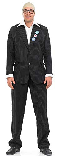 Fancy Me Herren Harry Hill TV Film prominent berühmt Stern TV Moderator Persönlichkeit Comic Comedian Kostüm Kleid Outfit - Schwarz, Medium
