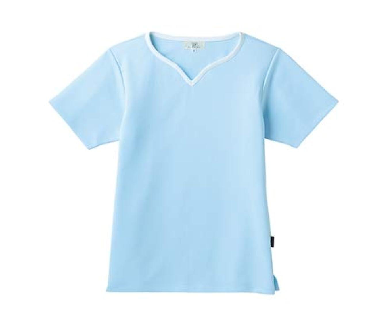不愉快重要性よく話されるトンボ/KIRAKU レディス入浴介助用シャツ CR161 L サックス