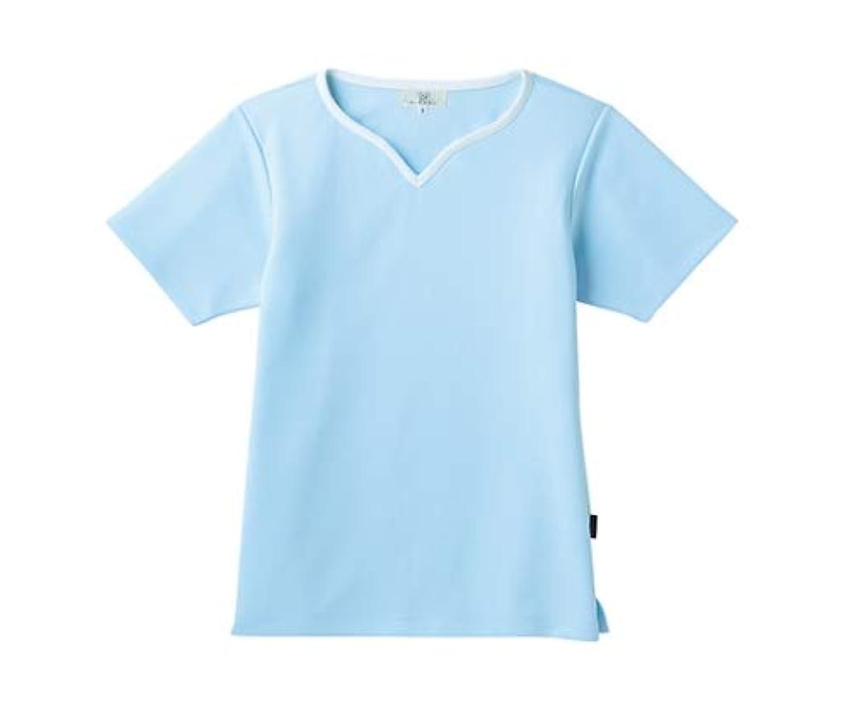 定刻ミニ赤ちゃんトンボ/KIRAKU レディス入浴介助用シャツ CR161 3L サックス
