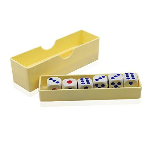 CHENTAOCS Prediction würfelt (Normal Dice) Zaubertricks Six Die Blitz Ändern Magia Close Up Gimmick Props Illusion Lustige Spielwaren for Kinder anzeigen (Farbe : Yellow)