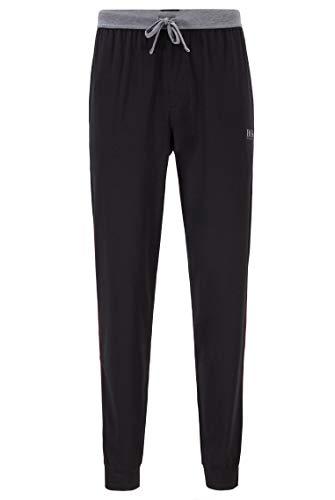 BOSS Hommes Balance Pants Pantalon de Pyjama en Coton mélangé resserré au Bas des Jambes, avec passepoils Contrastants