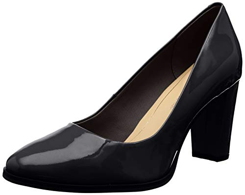 Clarks Kaylin Cara, Zapatos de Tacón Mujer, Negro (Black Pat Black Pat), 42 EU